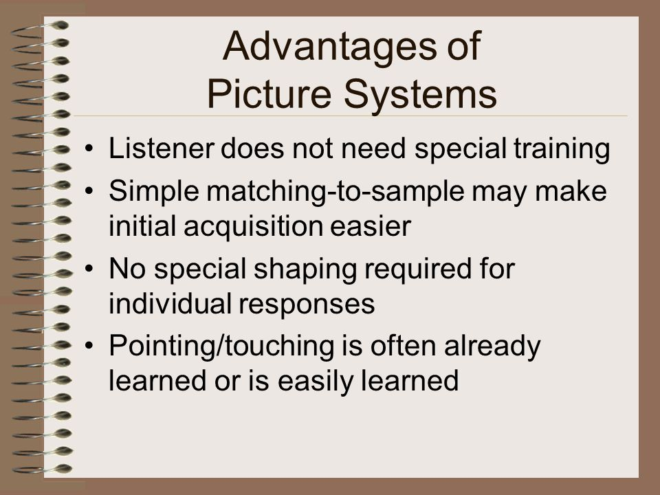 Advantages of Picture Systems