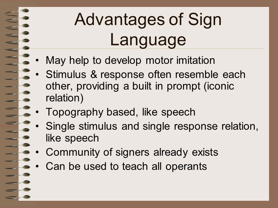 Advantages of Sign Language