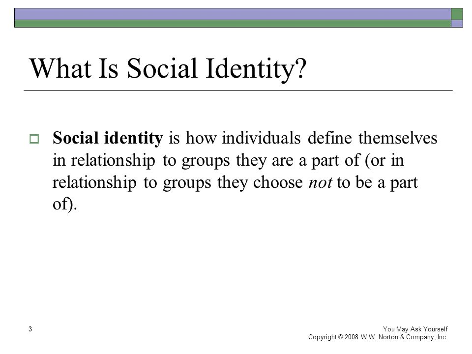 What Is Social Identity