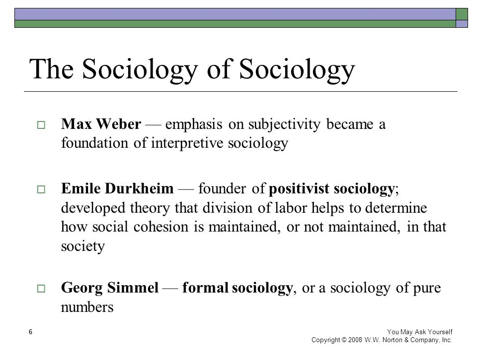weber sociology Sociology as a discipline and social facts emile durkheim (1858-1917) is  considered one of the fathers of sociology because of his effort to establish.