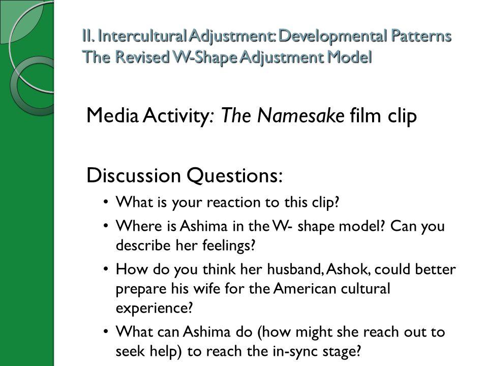 Media Activity: The Namesake film clip Discussion Questions: