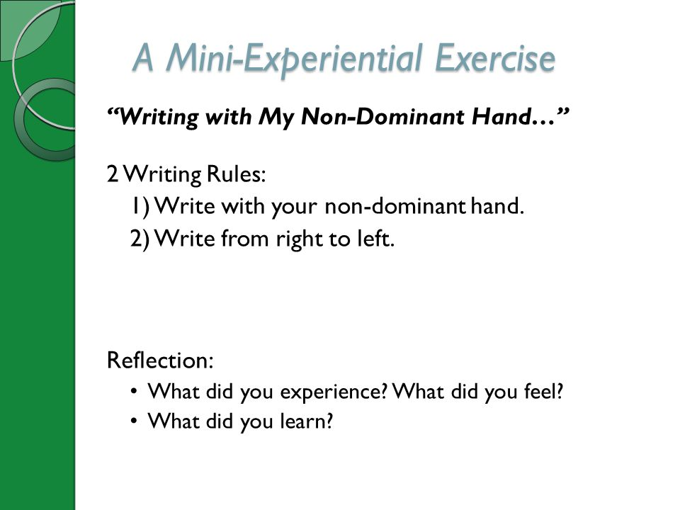 A Mini-Experiential Exercise