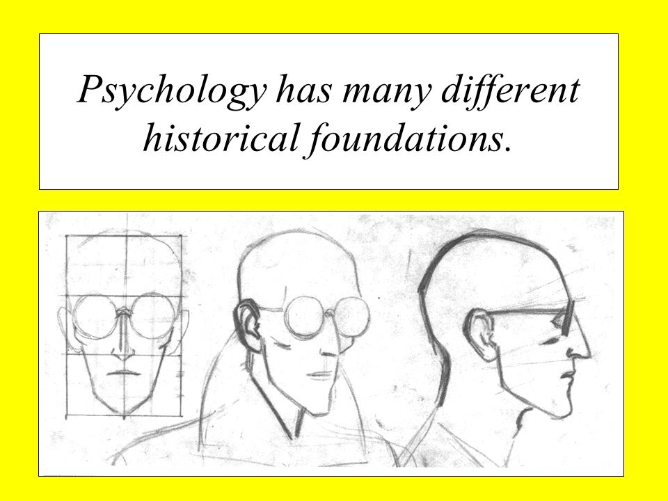 Psychology has many different historical foundations.