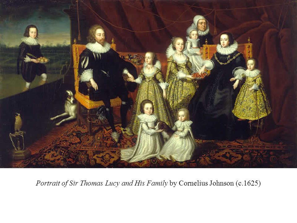 Portrait of Sir Thomas Lucy and His Family by Cornelius Johnson (copy of c.1625)