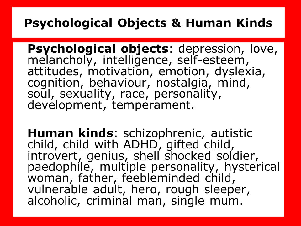 Psychological Objects & Human Kinds
