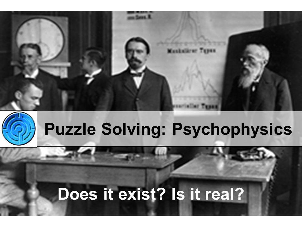 Puzzle Solving: Psychophysics