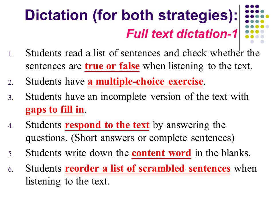 Dictation (for both strategies): Full text dictation-1