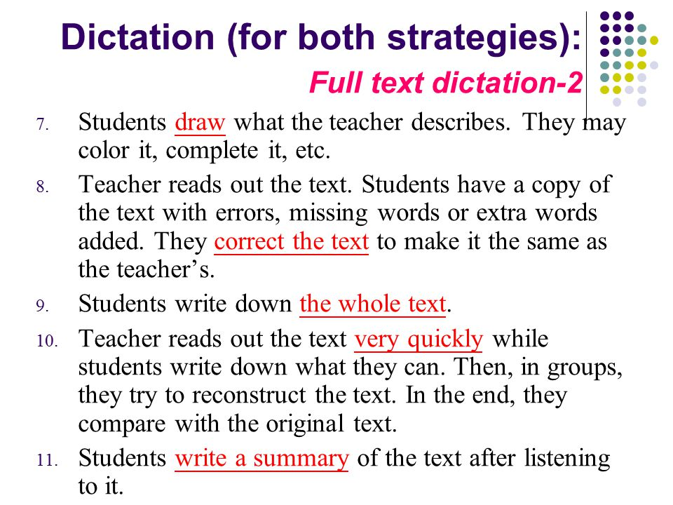 Dictation (for both strategies): Full text dictation-2