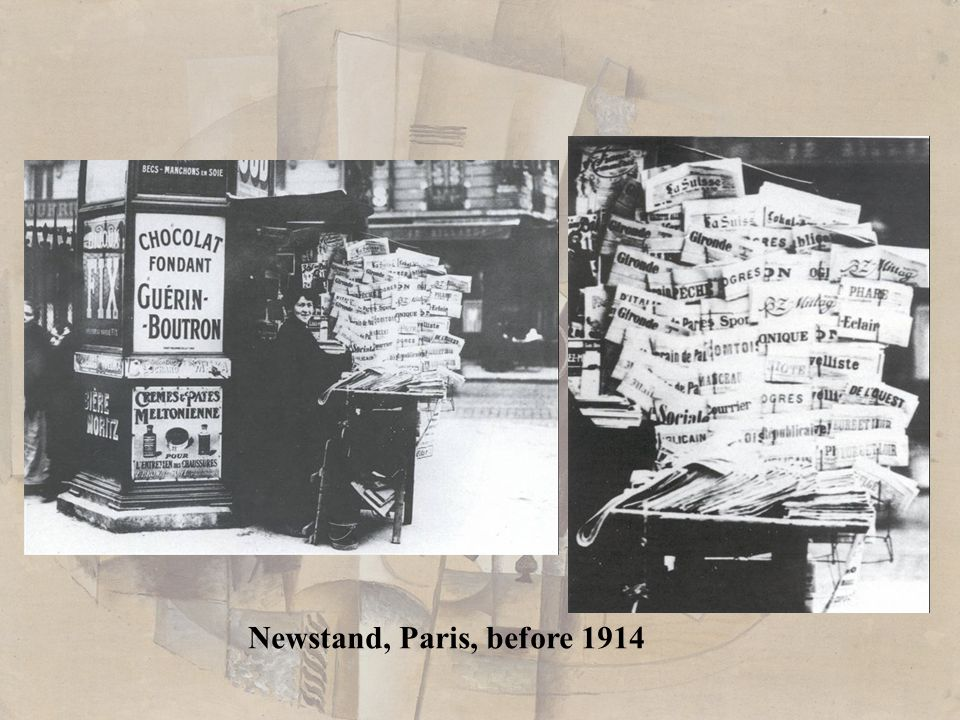 Newstand, Paris, before 1914