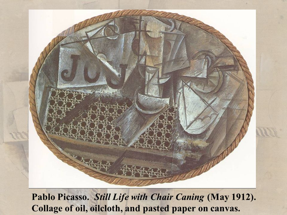 Pablo Picasso. Still Life with Chair Caning (May 1912)