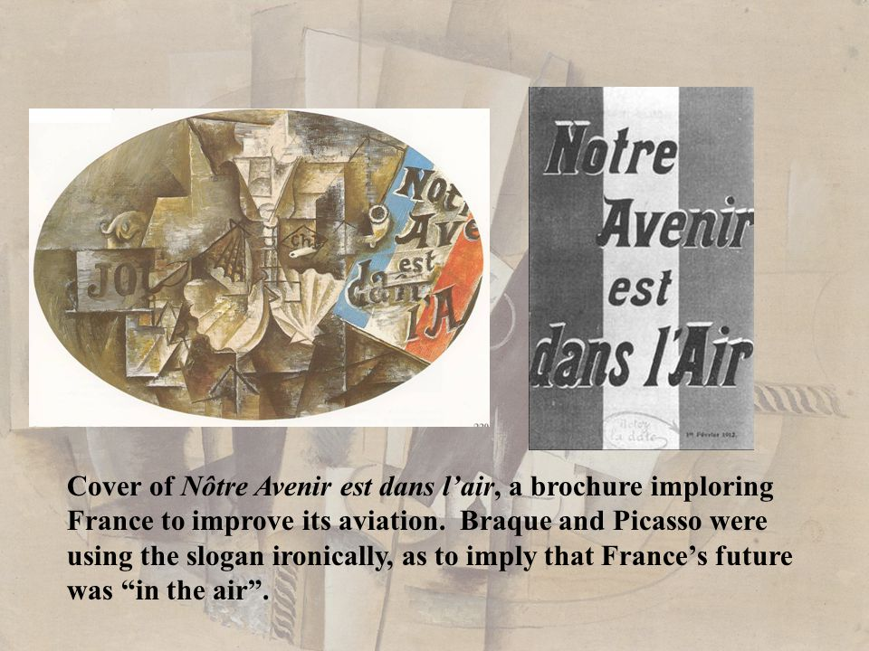Cover of Nôtre Avenir est dans l'air, a brochure imploring