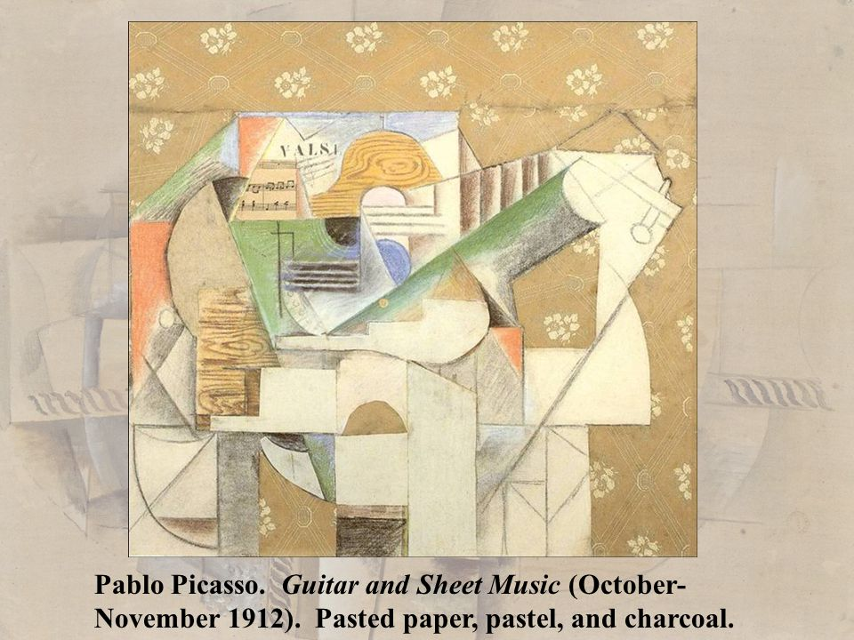Pablo Picasso. Guitar and Sheet Music (October-