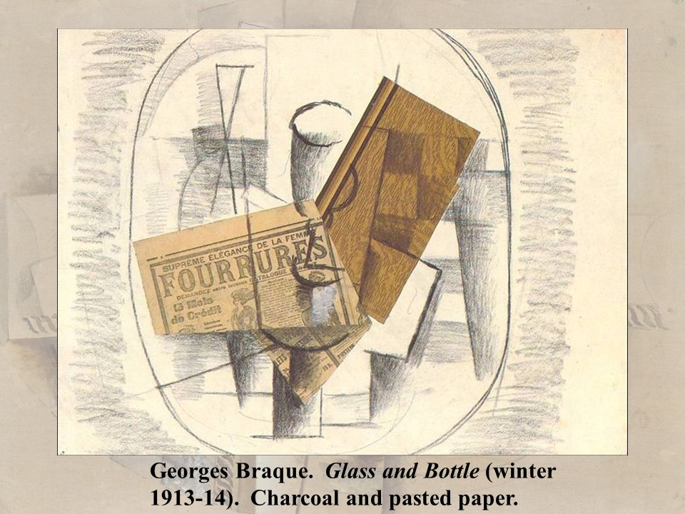 Georges Braque. Glass and Bottle (winter