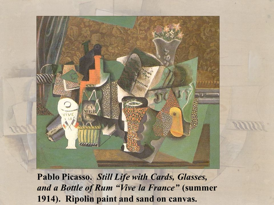 Pablo Picasso. Still Life with Cards, Glasses,