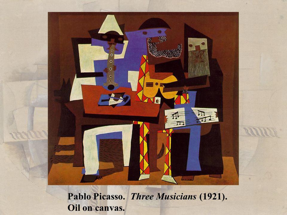 Pablo Picasso. Three Musicians (1921).