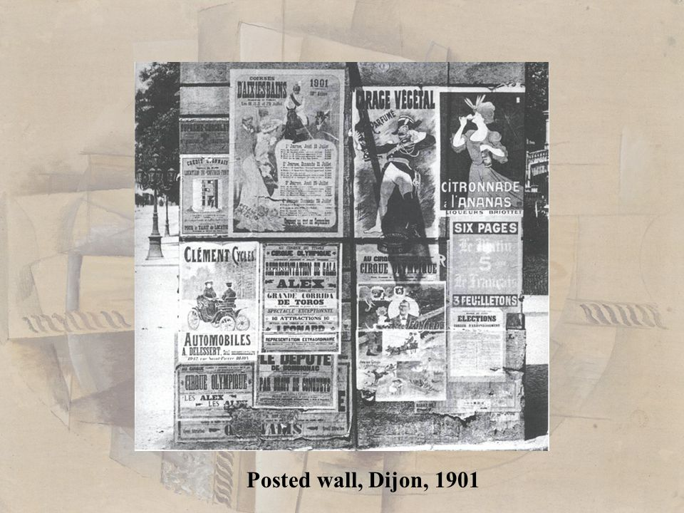 Posted wall, Dijon, 1901