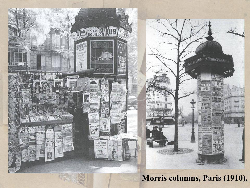 Morris columns, Paris (1910).