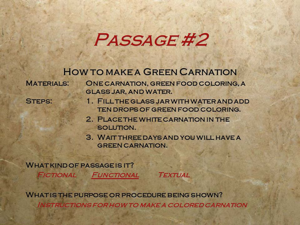 How to make a Green Carnation