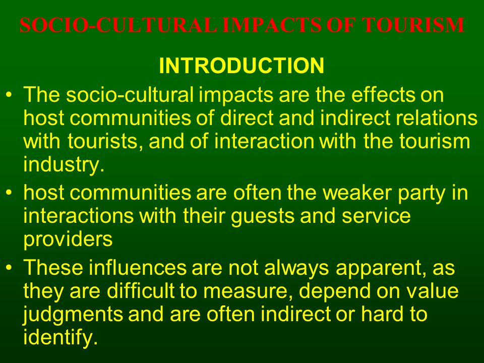 Positive & Negative Effects of Tourism