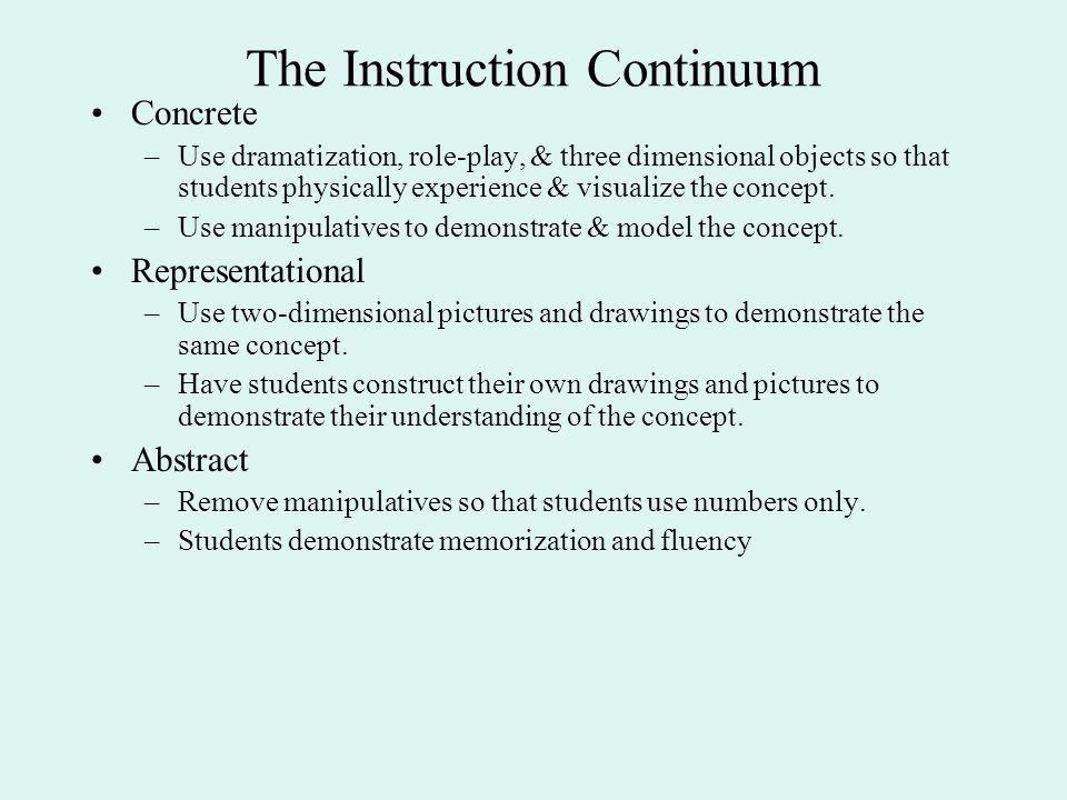 The Instruction Continuum