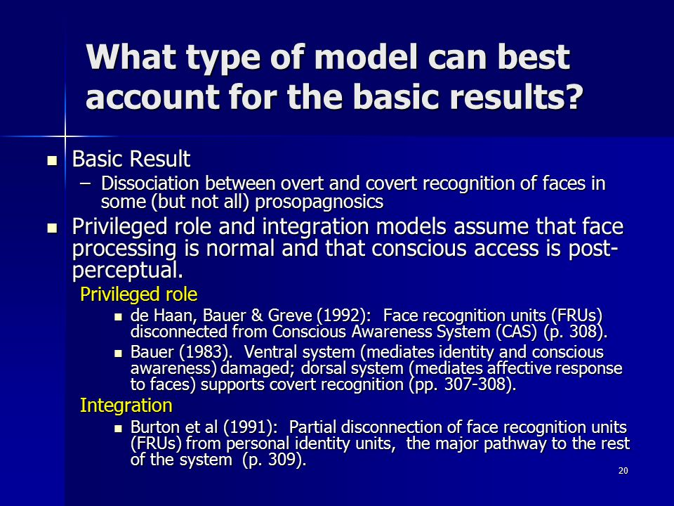What type of model can best account for the basic results