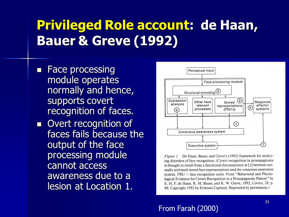 Privileged Role account: de Haan, Bauer & Greve (1992)