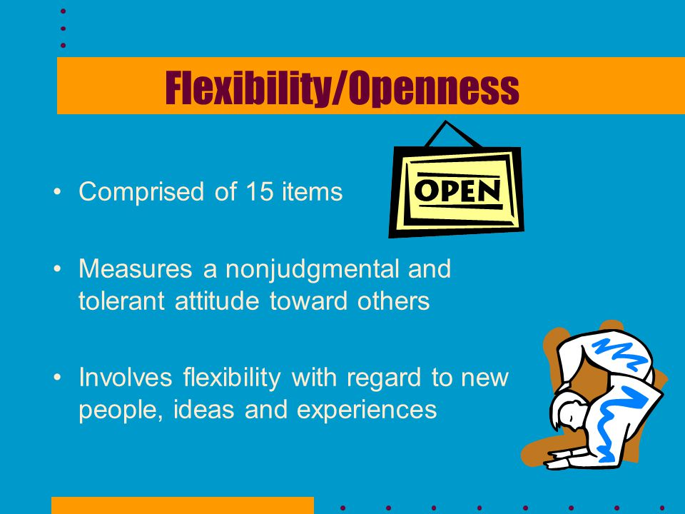 Flexibility/Openness