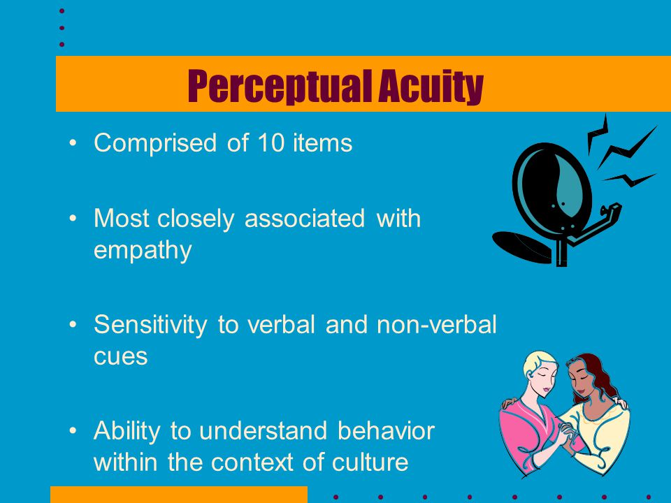 Perceptual Acuity Comprised of 10 items