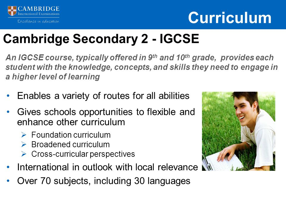 Cambridge Secondary 2 - IGCSE