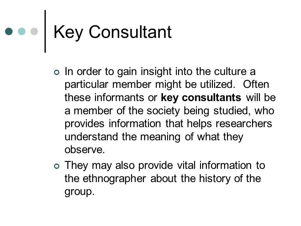 Key Consultant