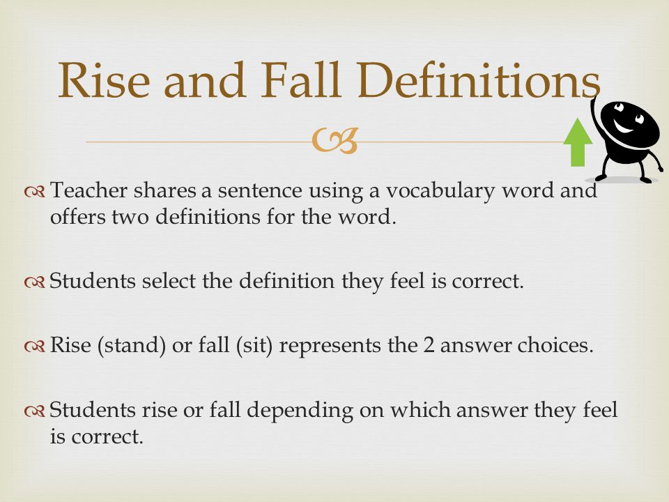 Rise and Fall Definitions