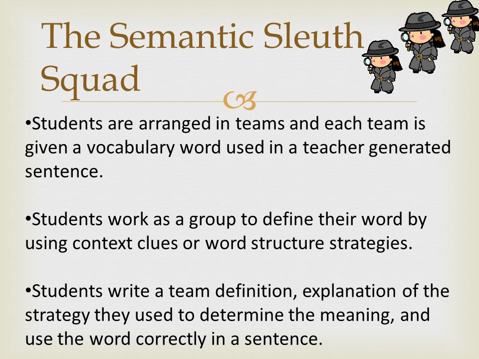 The Semantic Sleuth Squad