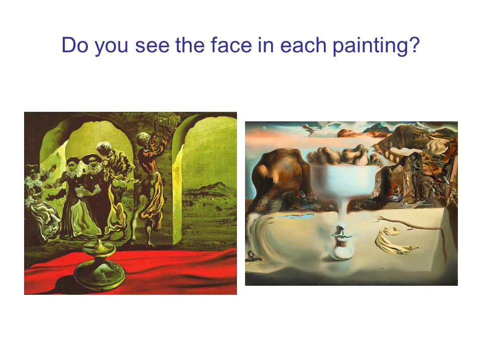 Do you see the face in each painting