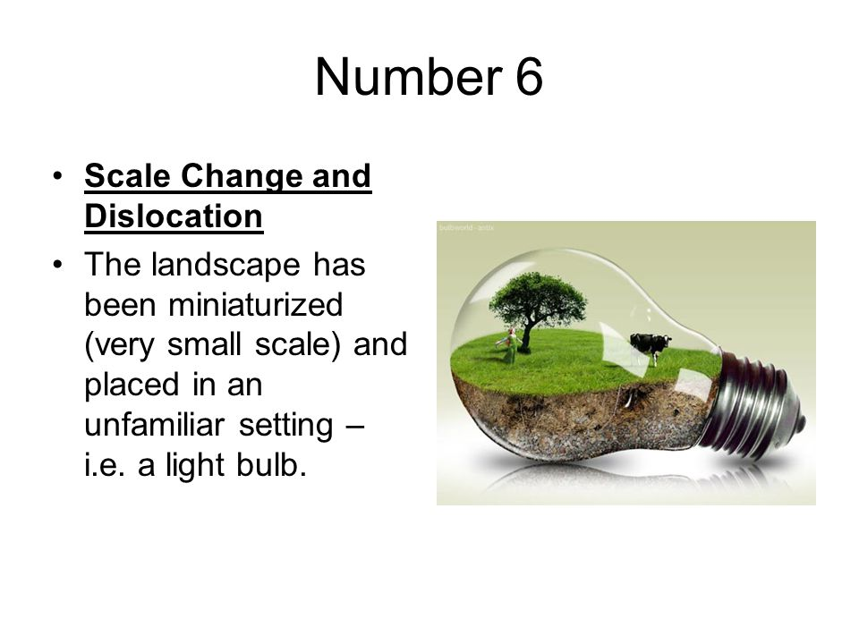 Number 6 Scale Change and Dislocation