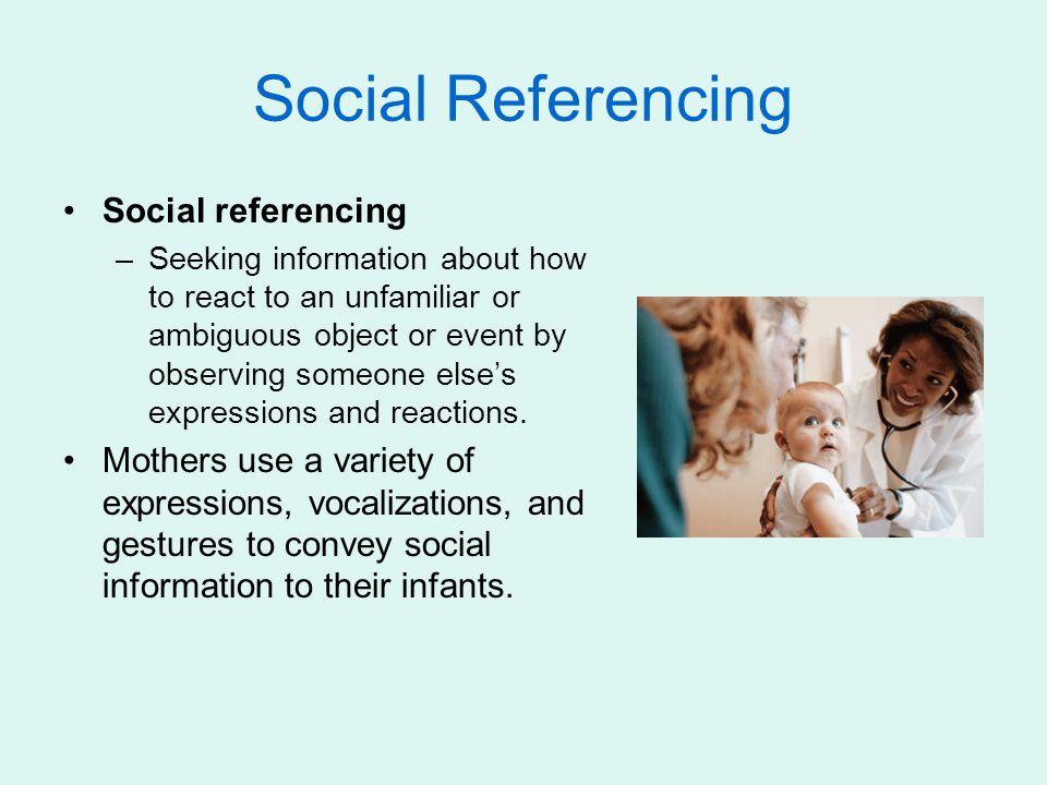 Social Referencing Social referencing