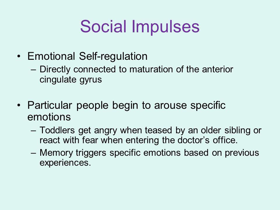 Social Impulses Emotional Self-regulation