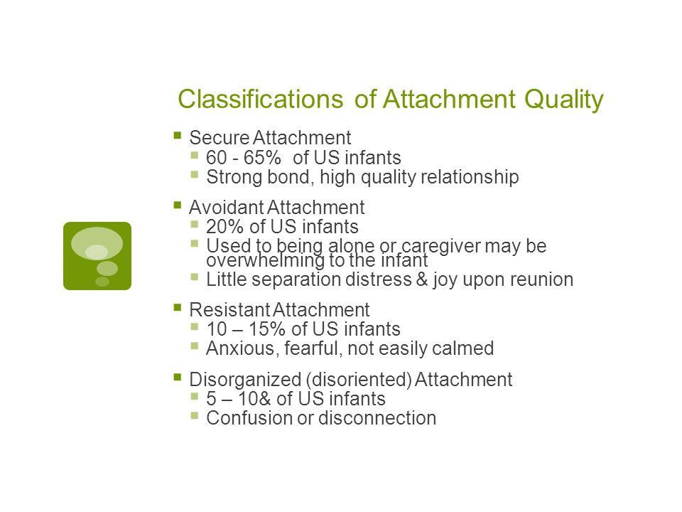 Classifications of Attachment Quality