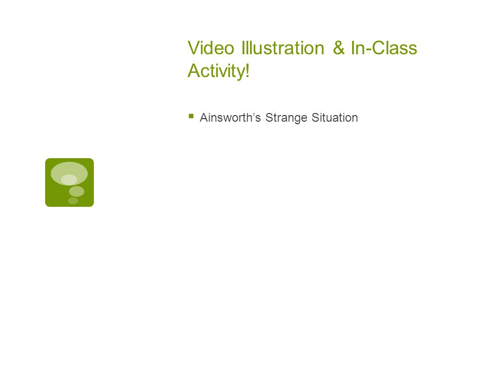 Video Illustration & In-Class Activity!