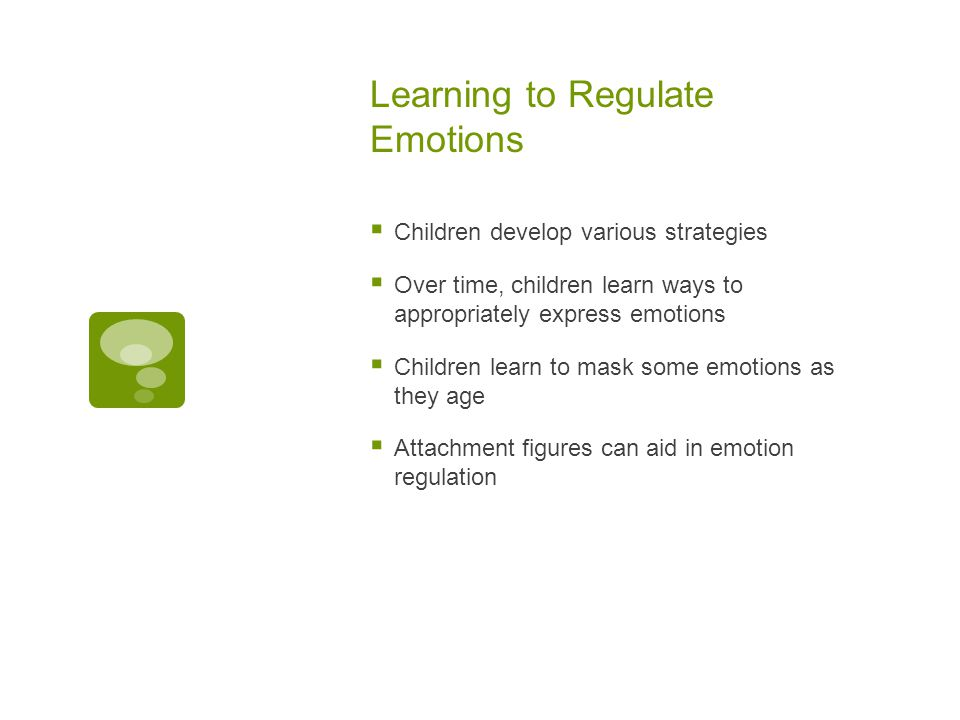 Learning to Regulate Emotions