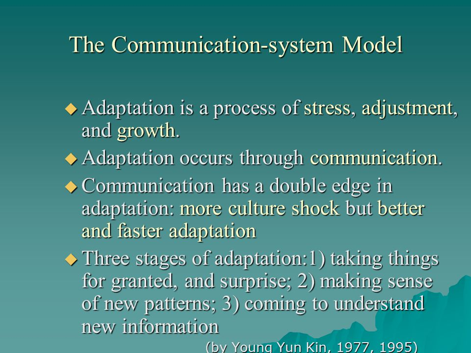 The Communication-system Model