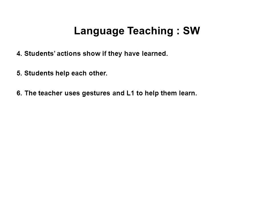 Language Teaching : SW