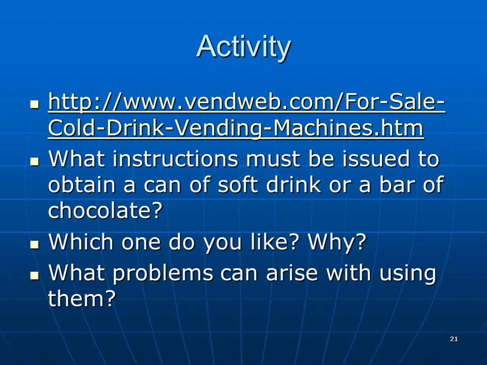 Activity http://www.vendweb.com/For-Sale-Cold-Drink-Vending-Machines.htm.