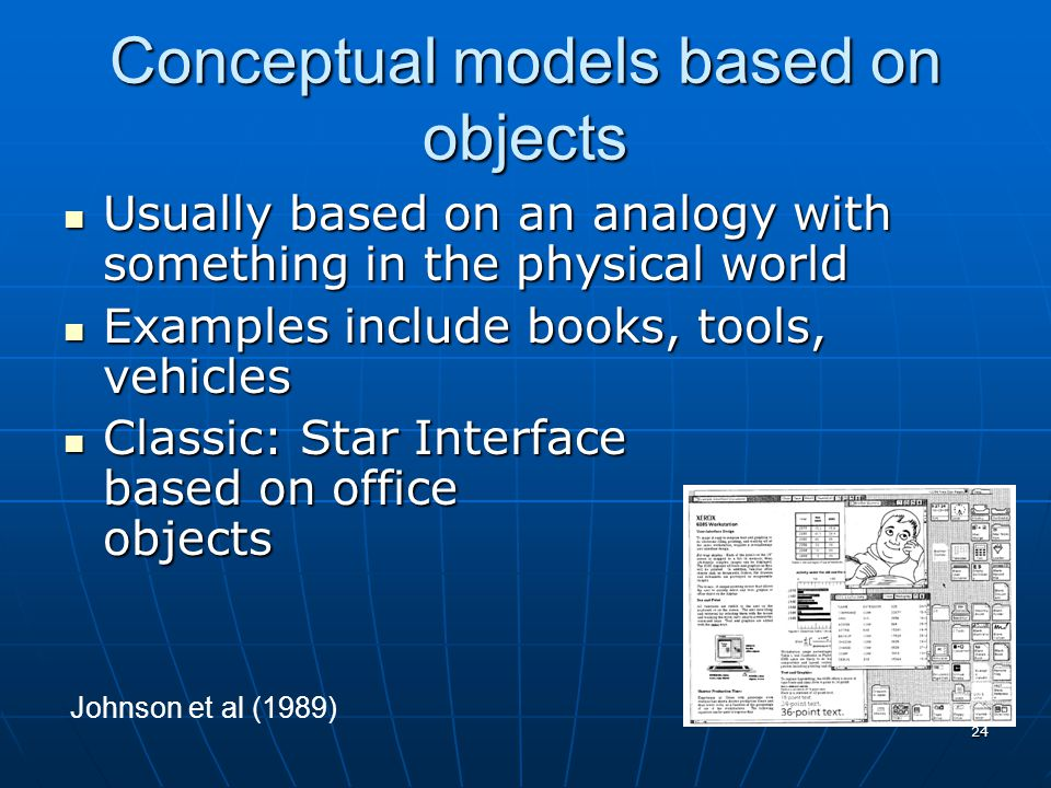 Conceptual models based on objects