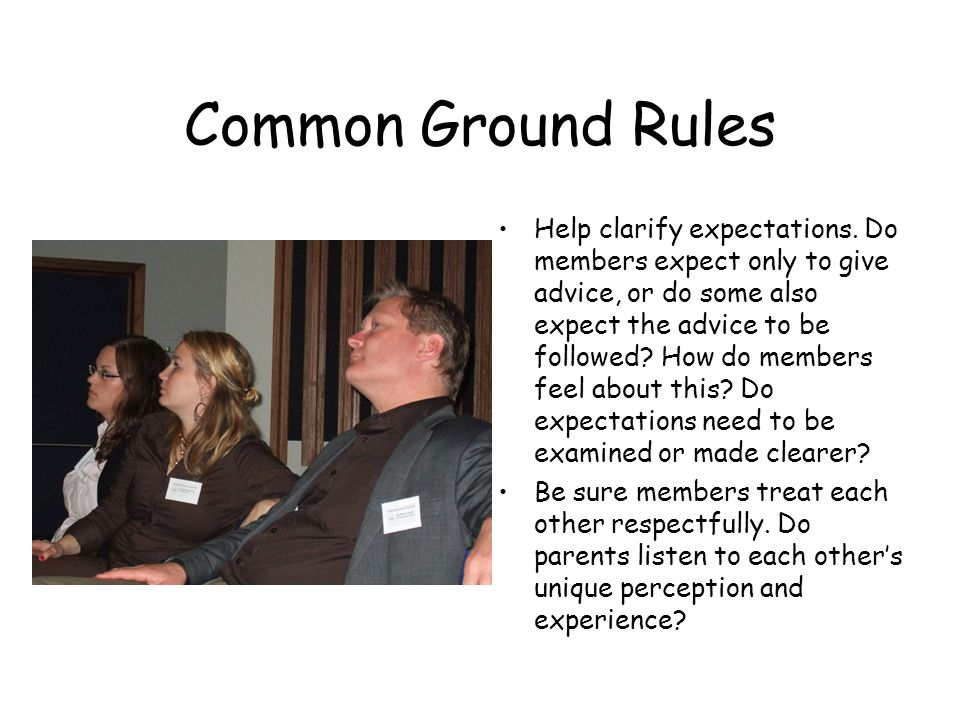 Common Ground Rules