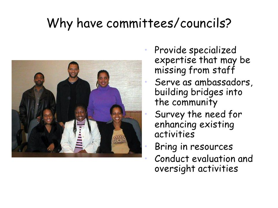 Why have committees/councils