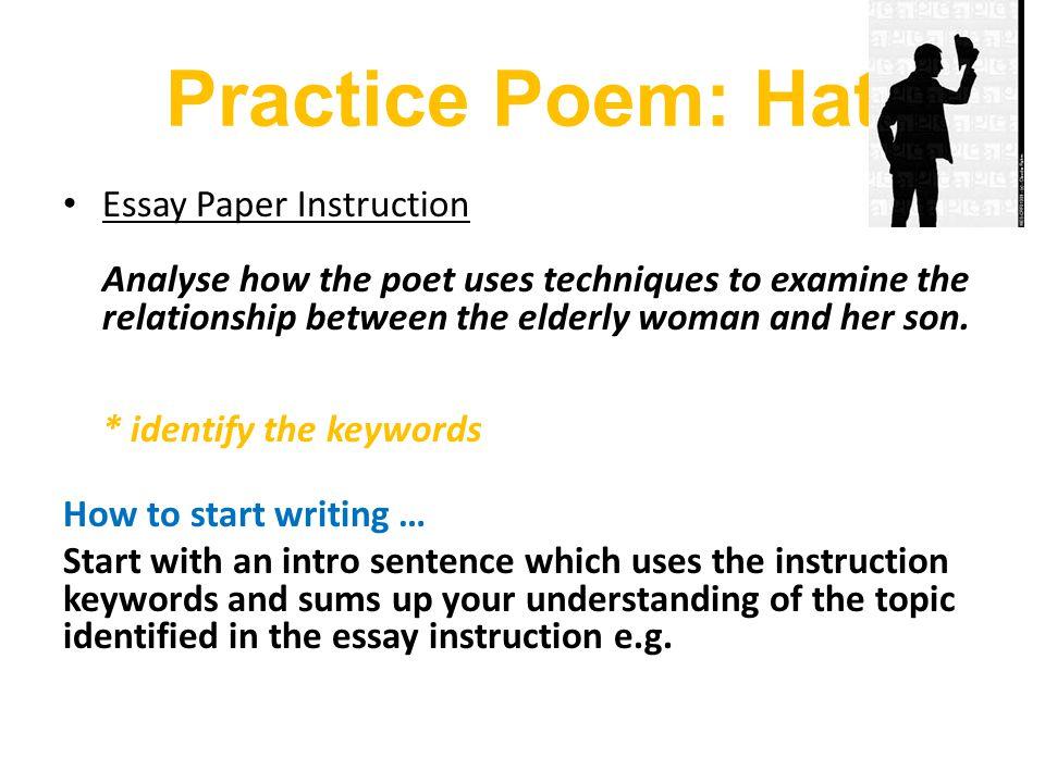 Practice Poem: Hat
