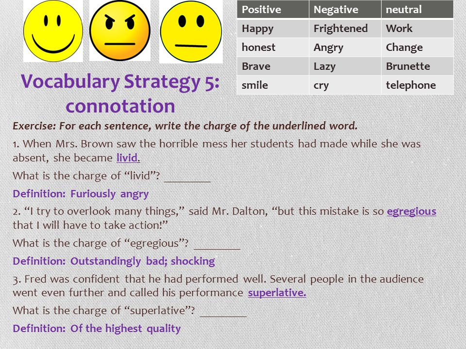 Vocabulary Strategy 5: connotation