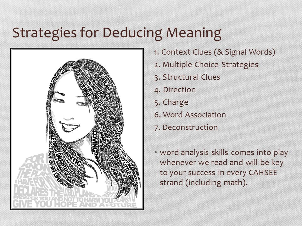 Strategies for Deducing Meaning