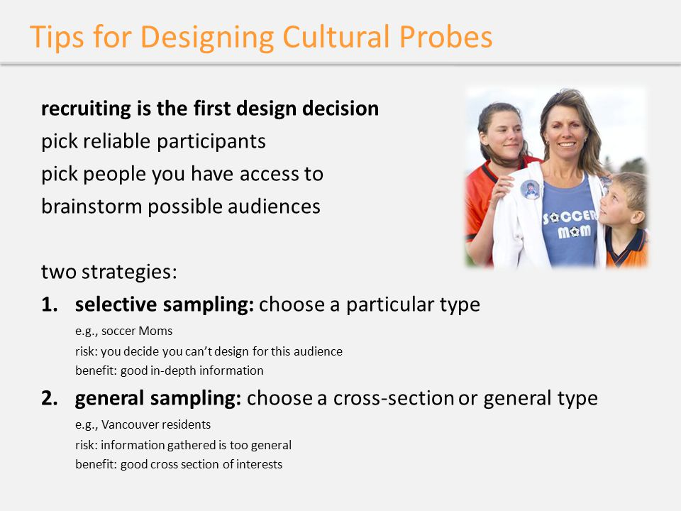 Tips for Designing Cultural Probes