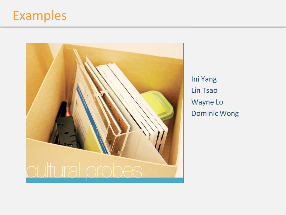 Examples Ini Yang Lin Tsao Wayne Lo Dominic Wong